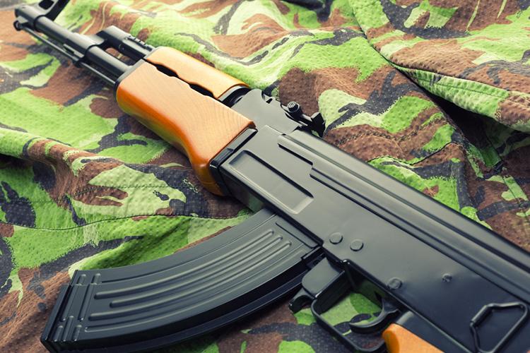 Shooting AK 47 à Bratislava EVG