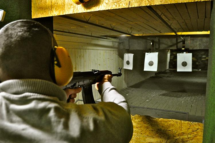Shooting 4 armes à Bratislava avec Crazy EVG